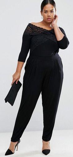 d588026ebfc7 Plus Size Wrap Jumpsuit with Elbow Sleeve Wrap Jumpsuit