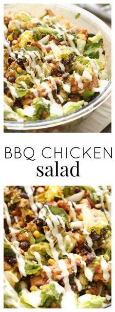 BBQ Chicken Salad from SixSistersStuff.com | Try this fresh and healthy salad recipe for an easy lunch idea or quick dinner!