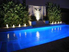 What a fabulous place for a an outdoor party! Outdoor Landscaping, Outdoor Pool, Outdoor Gardens, Outdoor Decor, Landscaping Ideas, Outdoor Spaces, Outdoor Living, Pool Water Features, Outdoor Water Features