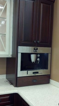 Coffee Maker - The Particulars Of An Effective Cup Of Coffee Kitchen Reno, Kitchen Design, Kitchen Cabinets, Kitchen Appliances, Kitchen Ideas, Built In Microwave Cabinet, Built In Coffee Maker, Coffee Maker Machine, Butler Pantry