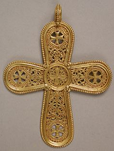 Gold Cross Pendant Date: 6th–7th century Culture: Byzantine Medium: Gold