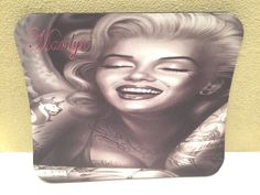 MARILYN MONROE TATTOO Large Multi-Color Pictorial Anti Slip PC Gamer Mouse Pad #PHATGraphix