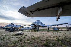 Le cimetière d'avions le plus grand du monde  en Arizona.  309th Aerospace Maintenance and Regeneration Group (AMARG