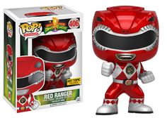 Might Morphin' Power Rangers: Metallic Red Ranger Pop figure by Funko, Hot Topic exclusive