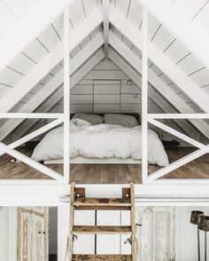 "theglossiernerd: """"photo credit Tifforelie "" "" I've always liked the idea of a bedroom loft. Maybe it's because a loft can feel more secluded than a normal room. Regardless, this loft bedroom is."