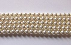 25 Swarovski Crystal Beads 4mm PEARL 5810 by CrystalsByThePiece, $1.99
