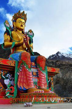 ♥ Maitreya Buddha in Nubra Valley, India