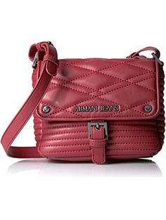 0928b42878c3 Armani Jeans Quilted Eco Leather Moto Inspired Crossbody