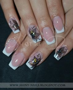 classy gel nail designs | Unghii patrate - Unghii cu gel - Square nails - Gel nails