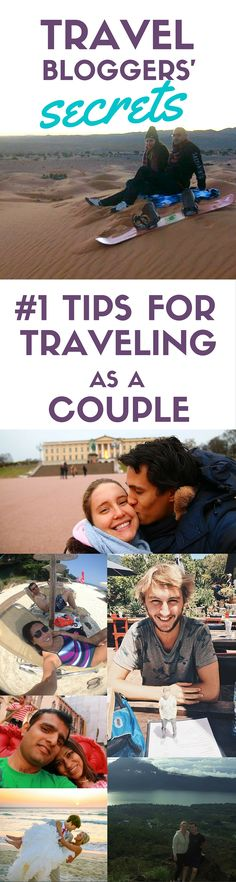 Travel bloggers worldwide share their top tips for traveling AND maintaining a relationship! Pin now, read later for tried + true + tested advice for traveling as a couple.