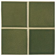 "Complete Tile Collection McIntones Ceramics, Grasshopper 3"" x 3""  Field Tile, MI#: 148-C1-314-030, Color: Grasshopper"