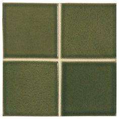"""Complete Tile Collection McIntones Ceramics, Grasshopper 3"""" x 3""""  Field Tile, MI#: 148-C1-314-030, Color: Grasshopper"""