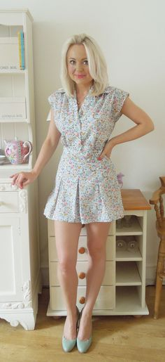 Adorable 1940s play suit from the little tailoress