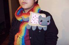 Crochet Nyan Cat scarf - CROCHET