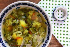 R'n'G Kitchen: Zupa z młodej kapusty i groszku cukrowego