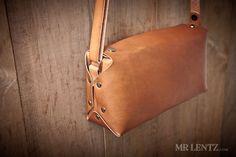 Leather Purse cross body purse leather handbag brown by MrLentz