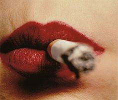 messgala:  Irving PENN Cigarette and Lips, New York, before 1961