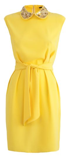 This dress is the colour of summer. We also love the jewelled collar ...