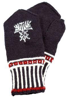 Pohjois-Karjalan lapaset, ruskea (9519)  #mittenS:-)