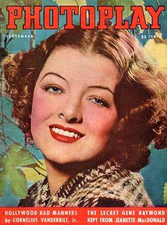 "Myrna Loy ~ ""PhotoPlay"" magazine, photo by George Hurrell..."