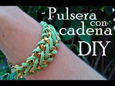 ❤ Pulsera con cadena y antelina | tutorial Bisutería DIY