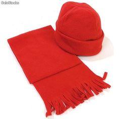 Set bufanda y gorro polar para niños