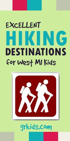 Favorite family hiking spots in West Michigan and Greater Grand Rapids. Now that the weather is starting to perk up it's a great time to get outside! More info at http://grkids.com/excellent-hiking-destinations-for-west-michigan-kids/