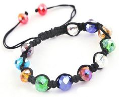$0.78  Colorful Faceted Glass Crystal Disco Beads Braided European Cords Bracelet http://www.eozy.com/colorful-faceted-glass-crystal-disco-beads-braided-european-cords-bracelet.html