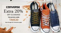 #Converse Up to 70% Off Sale & Clearance + Extra 20% Shop from #USA only through Ishopinternational.com http://swoo.sh/2mssu9v