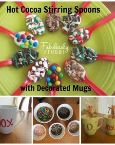 Everyone is looking for an affordable gift you can share with you neighbors, co-workers, and friends. A personalized mug with chocolate candy-covered spoons is a fun gift idea. It would also be great for a Christmas party or for some fun at home with your families.