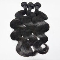 Unprocessed Human Hair Weaves Body Wave Human Hair Machine Double Weft