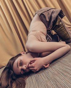 Serious girl @olesyaivanishcheva  of #avantmodels plays for @institutemag styled by @gorkaya_natasha MUA @ketimua set design @ilya_nemirovsky #editorial #fashion #youth #IgorPavlov