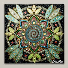 Acrylic Mandala dot painting on canvas Mandala Painting, Dot Painting, Painting Patterns, Mandela Art, Record Art, Mandala Dots, Canvas, Mosaics, Drawings