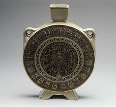 Moon flask Josiah Wedgwood and Sons Maker: Manner of Christopher Dresser (British, Glasgow, Scotland 1834–1904 Mulhouse) c. 1873 ...