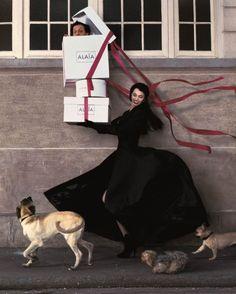Paris, 1998, Photographer: Jean-Paul Goude. Models: Beatrice Dalle and Azzedine Alaia