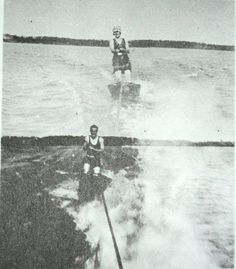 F Scott and Zelda, Lake Minnesota, 1922.