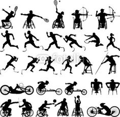 Silhouette of disabled athletes from PrintingSociety, Royalty-free ...