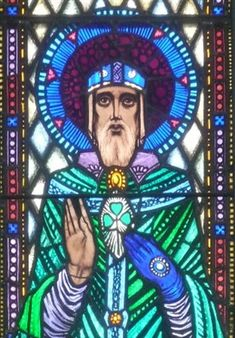 Patrick represented in a stained-glass window in St. The artist was the well-known Harry Clarke. Stained Glass Church, Stained Glass Art, Stained Glass Windows, Window Glass, Art Deco Illustration, Floral Illustrations, Mosaic Art, Mosaic Glass, Crystal Shapes