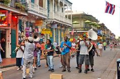 New Orleans: A typical scene in the New Orleans Quarter.