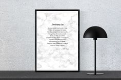The Empty Cup By W.B. Yeats, Instant Download, Wall Art, Print by PinkPebblePrints on Etsy