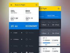 Some UI treatment for a travel app we worked on last year.