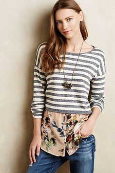 Layered Stripes Sweater #anthropologie