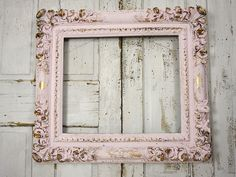 Large thick picture frame shabby cottage chic por AnitaSperoDesign