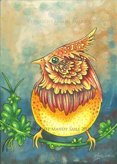 Beautiful Bird 6 ART PRINT Mandy Saile Bird Art by BijousWhimsy