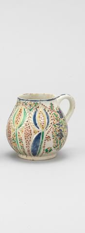 An unusual Kutahya moulded pottery Cup Turkey, first half of 18th Century