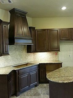 colour of kitchen counter tops and cupboards...