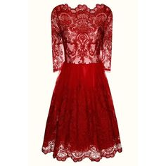 Chi Chi London Baroque Style Tea Dress ($115) ❤ liked on Polyvore featuring dresses, burgundy, women, prom dresses, tea party dresses, knee-length dresses, night out dresses and 3/4 sleeve dress