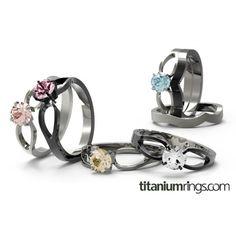 To Infinity Solitaire Gem | Titanium Rings, Titanium Wedding Bands, Diamond Engagement Rings | Product