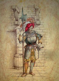 View an illustration of Michael Ivanov-Swiss infantryman 16 21. / Посмотреть иллюстрацию Михаил Иванов - Швейцарский пехотинец 16 век.