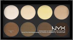 NYX Cosmetics refillable Highlight & Contour Pro Palette!.